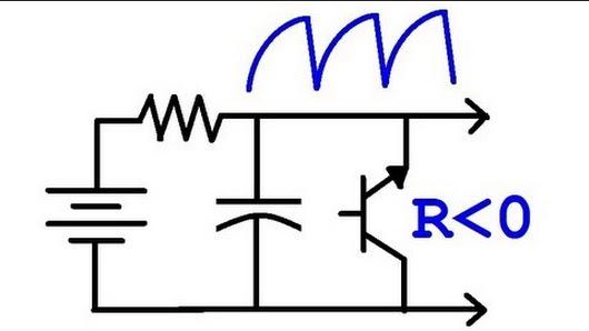 reverse bias oscillator circuit