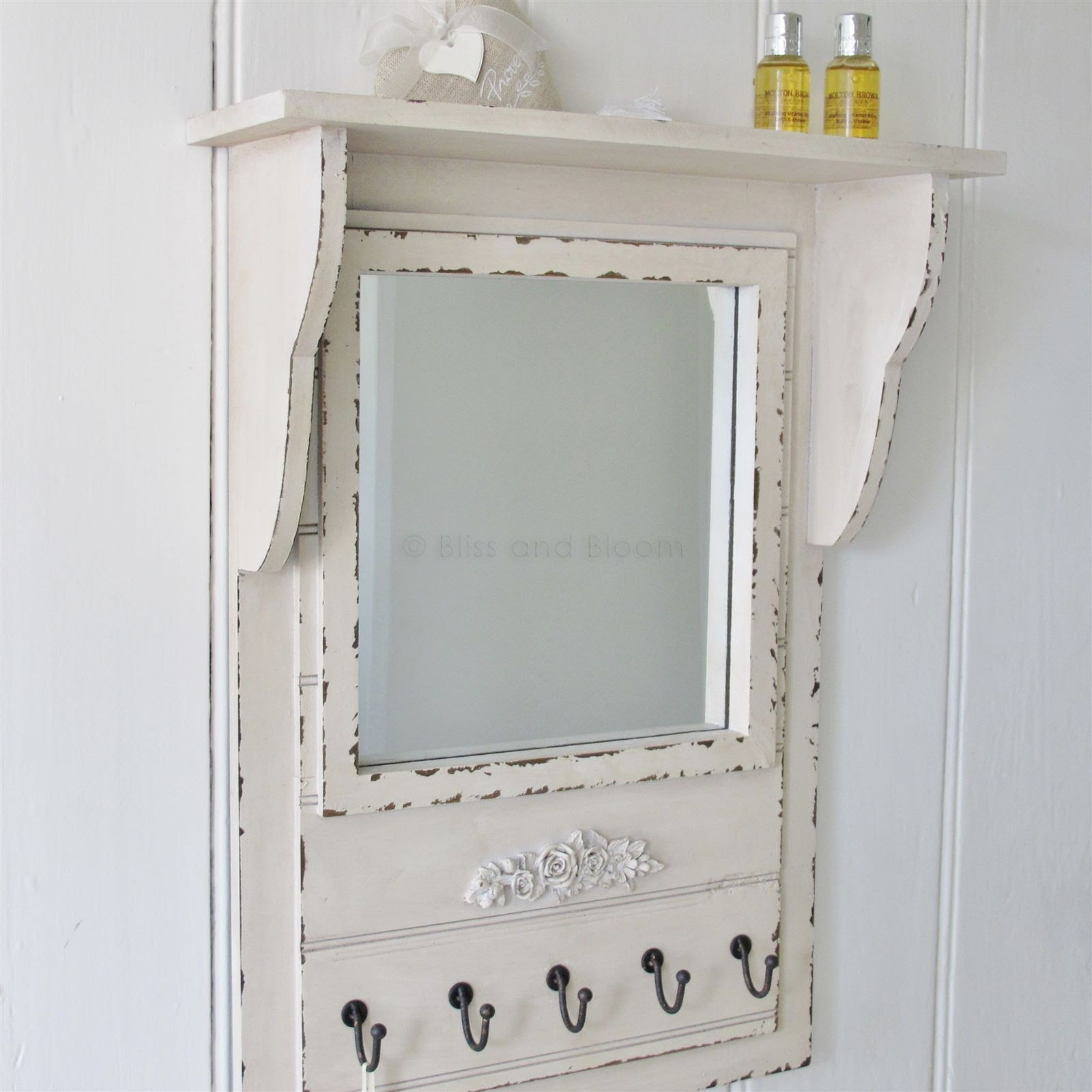 Metal Wall Mirror With Shelf Montague Bathroom Shelf Rail Mirror And Hook Rail Bathroom