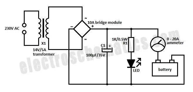 5 volt battery charger circuit diagram
