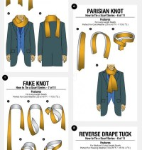 11 Ways To Tie A Scarf ~ For Men And Women