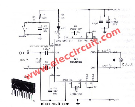 audio amplifierwith pcb eleccircuitcom