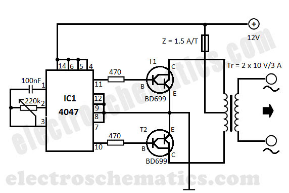 ac to dc dc to ac inverter design circuit