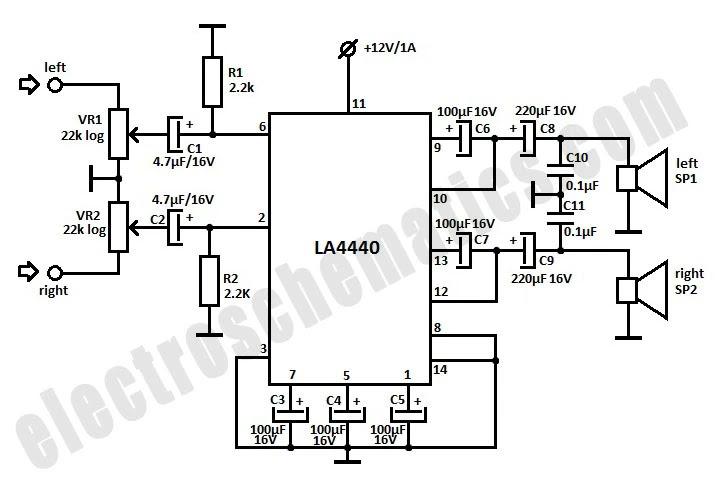 4 x 15 watt power amplifier