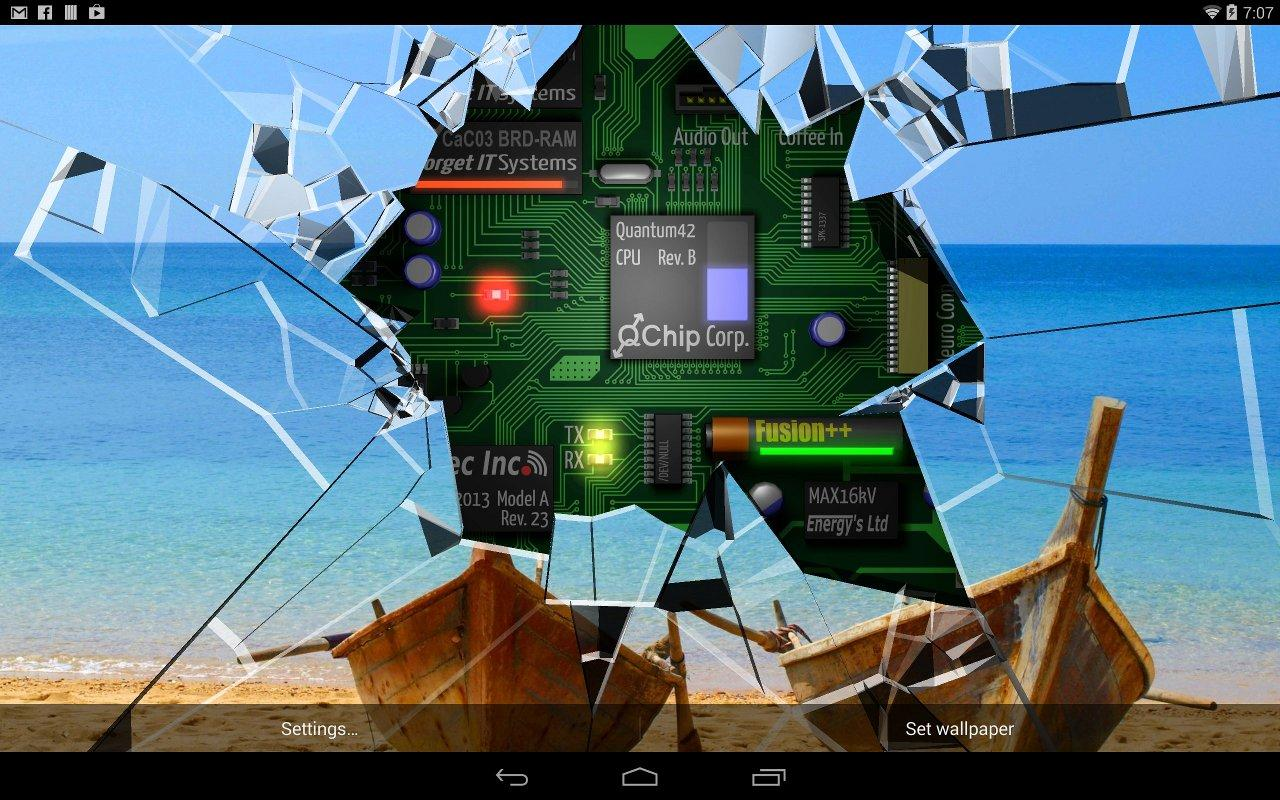 3d Parallax Weather Live Wallpaper Cracked Screen Gyro 3d Parallax Wallpaper Hd Android