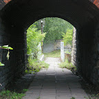 A path to one of the gates of the old power plant.