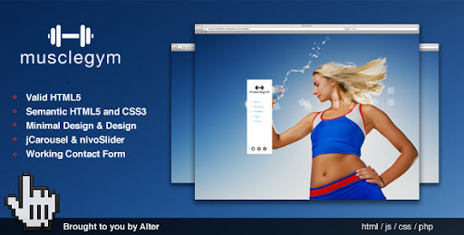 Health and Beauty HTML Templates for Your Websites Musclegym
