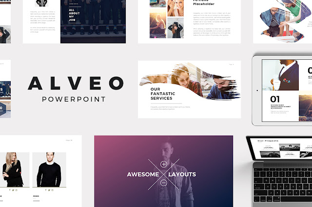 Alveo Minimal PowerPoint Template IT Love Design