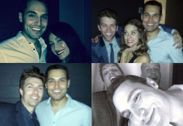 Samy Osman with Maggie Q, Taylor Bateman and Lyndsy Fonseca, Noah Bean, Taylor again and James Azzopardi at the Nikita Season 4 end of show warp party.