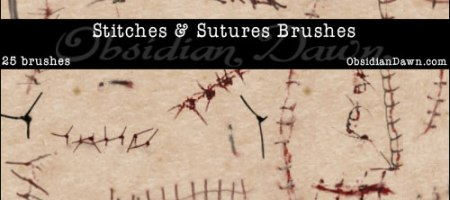 [Brushes整理]疤痕、縫線筆刷集-1