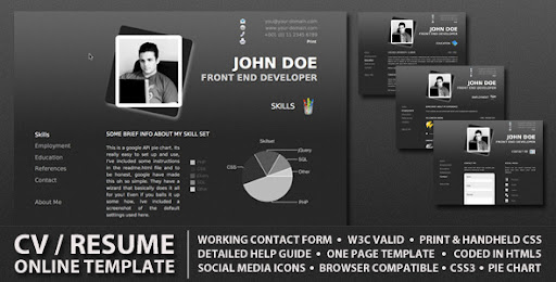 HTML Templates for Your CVs/Resumes ProCV - Professional Online