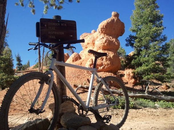 Bike with a Hoodoo in Background
