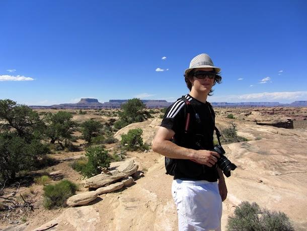 Sam on the slickrock.JPG