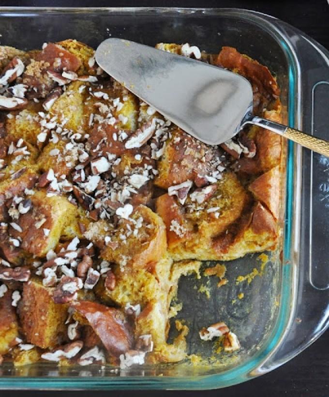 pumpkin brioche bread pudding 070