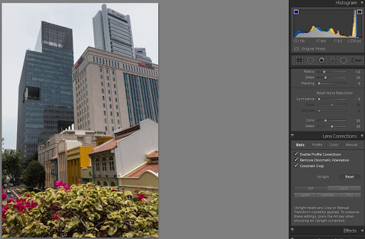upright tool in Lightroom 5 beta - off
