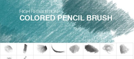 [Brushes整理]鉛筆、色鉛筆筆觸筆刷集-1