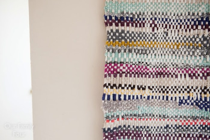 Woven Fabric Scrap Wall Art 1 2