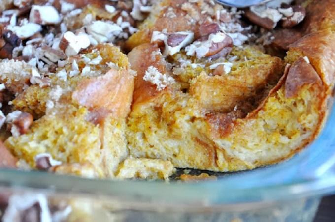 pumpkin brioche bread pudding 087