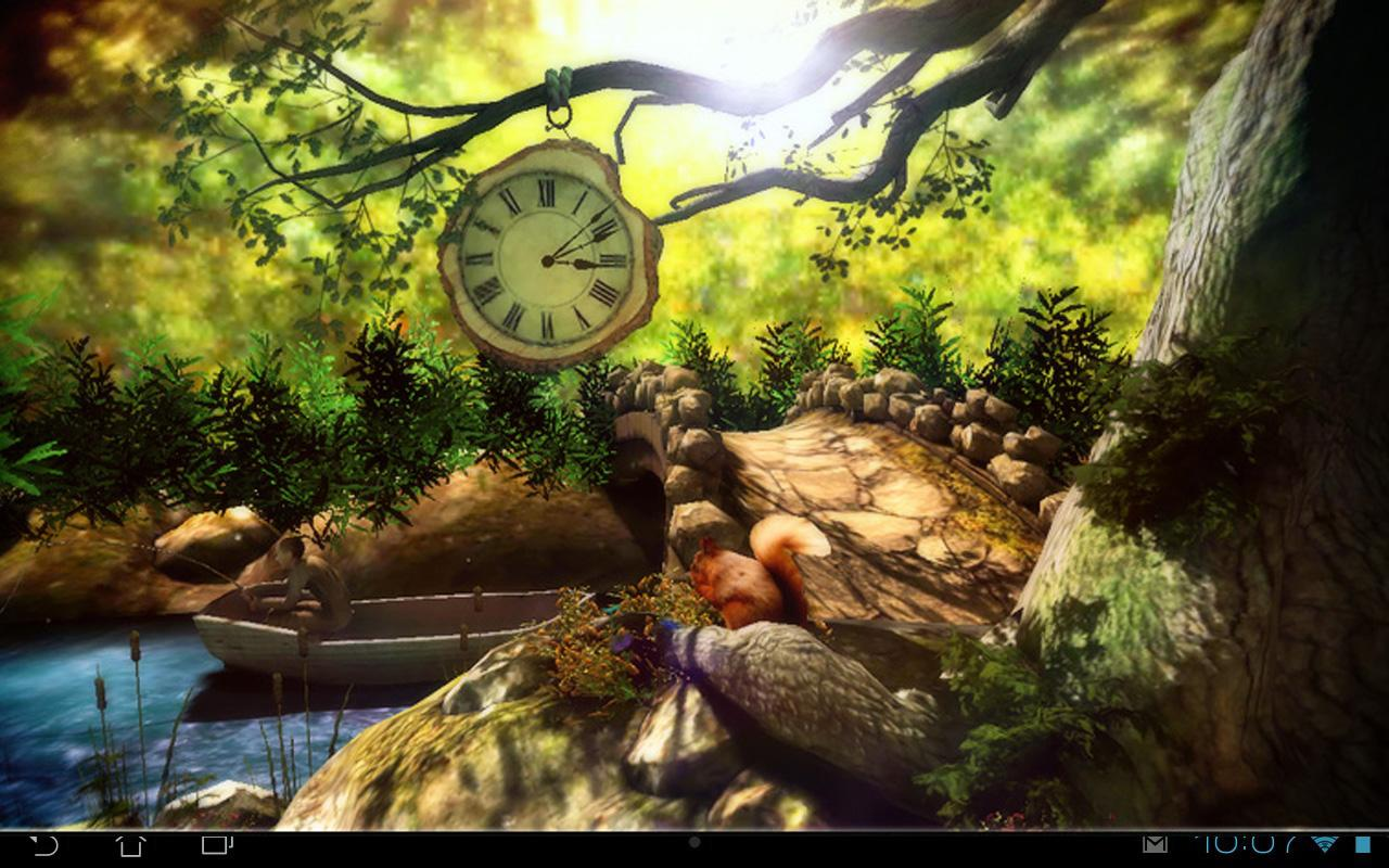 3d Fireflies Live Wallpaper Fantasy Forest 3d Free Android Apps Auf Google Play