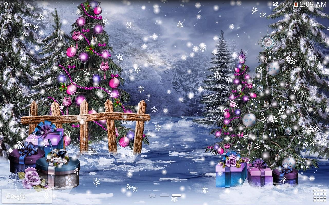 Snow Village 3d Live Wallpaper And Screensaver Christmas Night Live Wallpaper Android Apps Auf Google Play