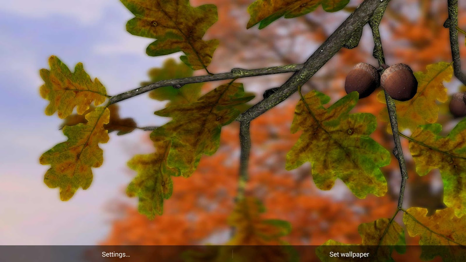 3d Parallax Background Live Wallpaper For Android Os Autumn Leaves In Hd Gyro 3d Xl Parallax Wallpaper
