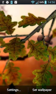 Parallax 3d Effect Wallpaper Pro Autumn Leaves In Hd Gyro 3d Xl Parallax Wallpaper