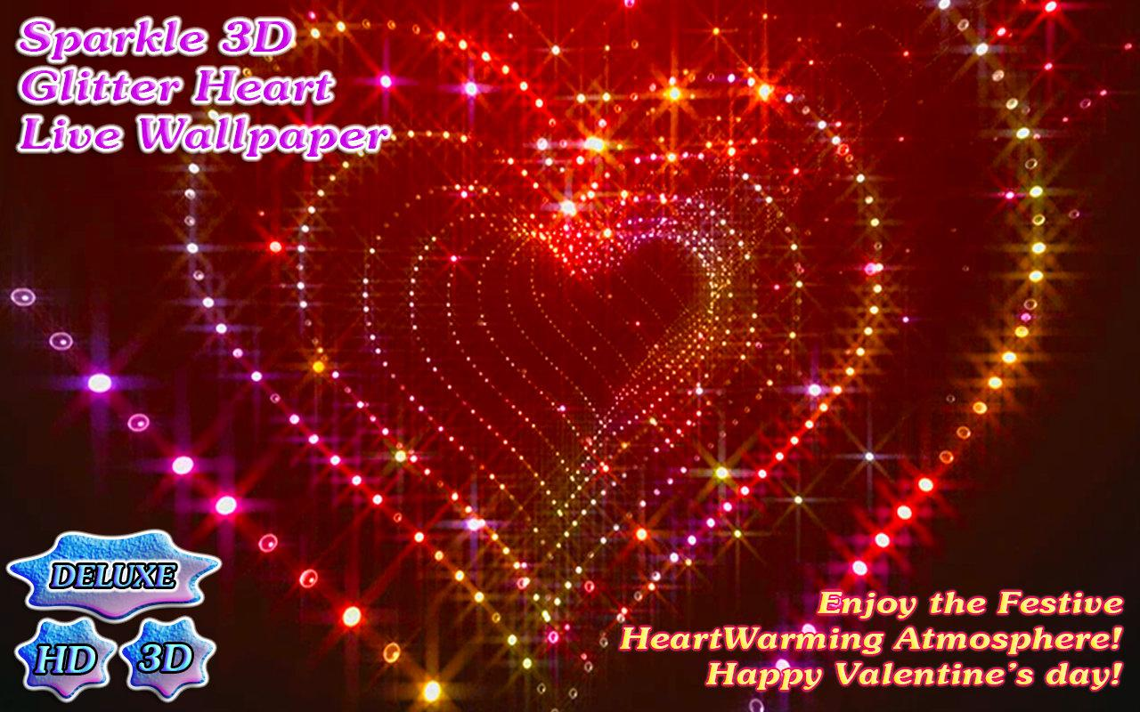 3d Valentine Tunnel Wallpapers Sparkle Glitter Heart Tunnel Android Apps On Google Play