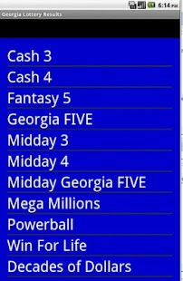 Georgia winning numbers - Android Apps on Google Play