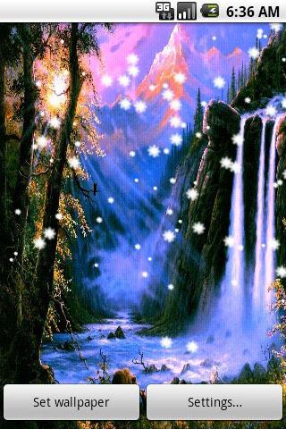 Touch Screen Animated Wallpapers Download The 3d Waterfall Live Wallpaper Android Apps On