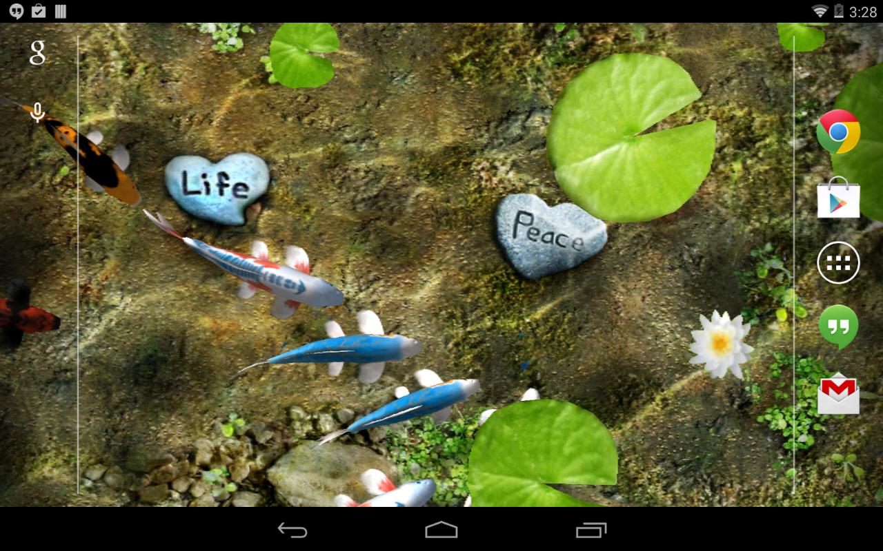3d Koi Pond Live Wallpaper Apk Koi Free Live Wallpaper Android Apps On Google Play
