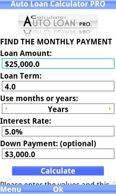 Auto Loan Calculator PRO trial - Android Apps on Google Play