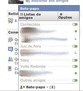 Popup do chat do Facebook