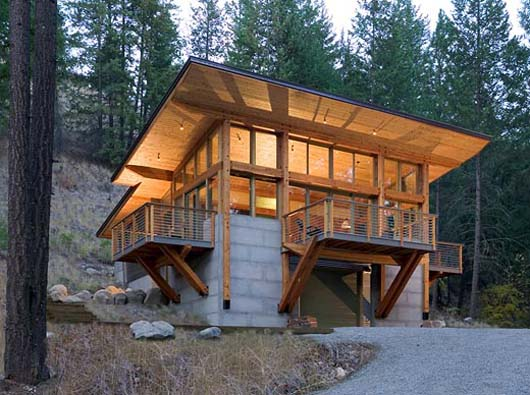 hillside home design architecture minimalist cabin decorating hillside cabin plans diy woodworking plans