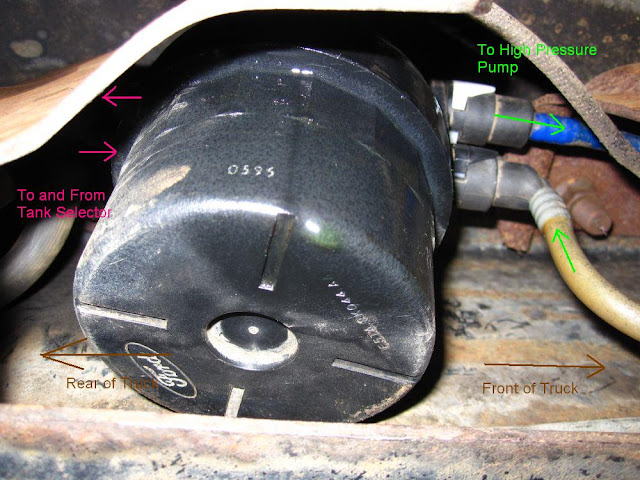 89 mustang fuel filter location