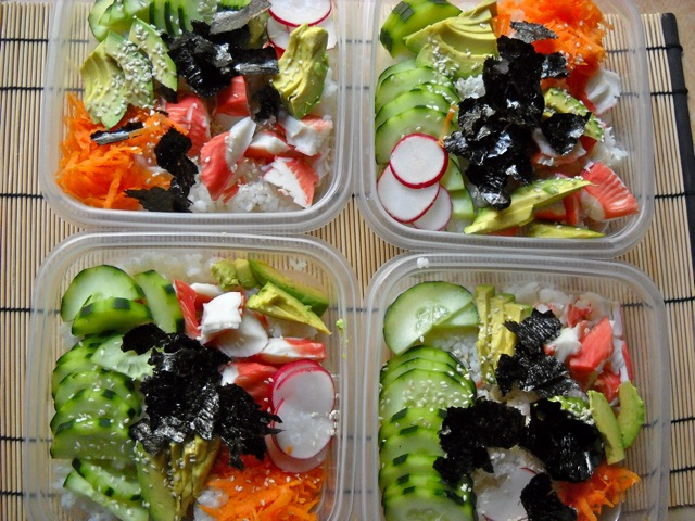 sushi bowl lunches