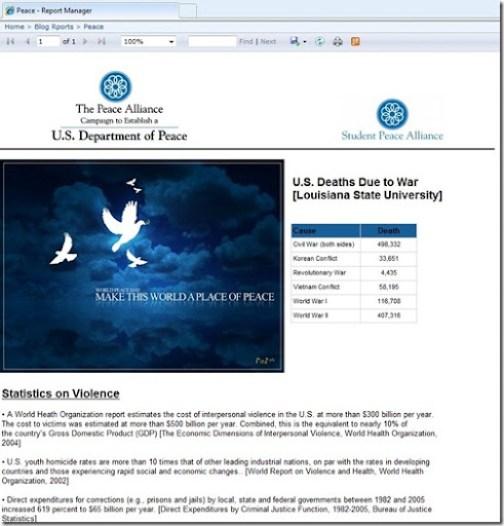 Sample Peace Report
