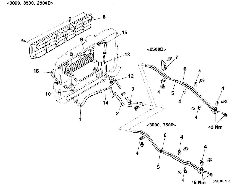 isuzu rodeo sport Motor diagram