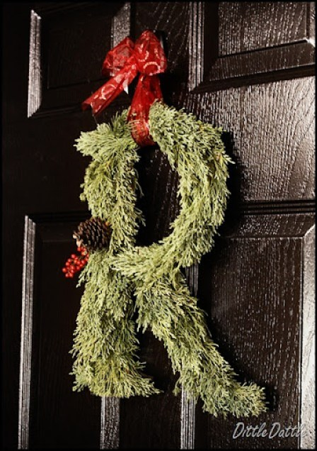 Christmas Monogram Wreath
