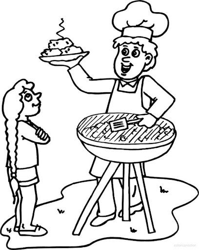 dibujo de grill para colorear