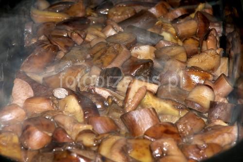 Prosty sos grzybowy smazone przystawki polska obiad latwe  przepis foto