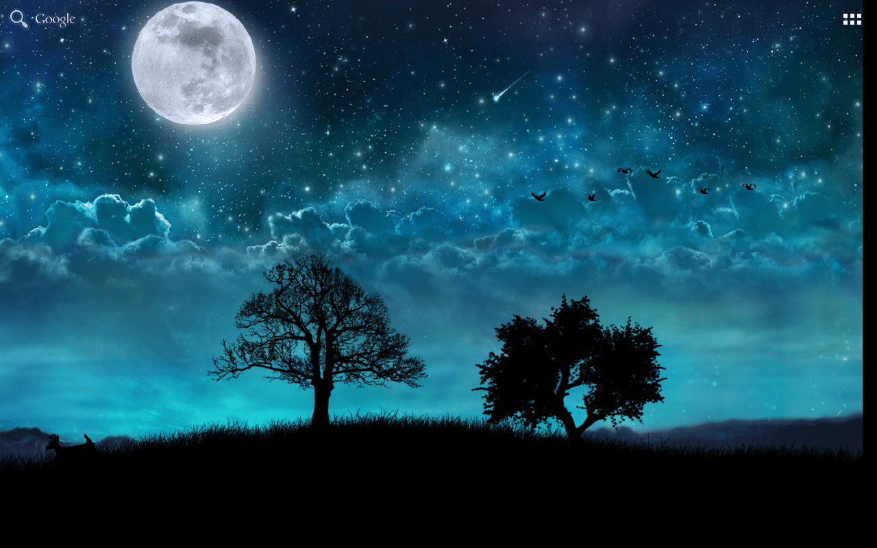 3d Parallax Weather Live Wallpaper Dream Night Free Livewallpaper Android Apps On Google Play