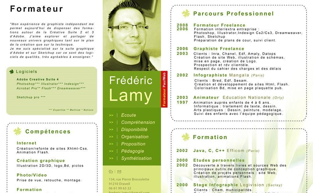 competences professionnelles formateur cv