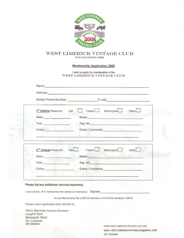 membership form template word