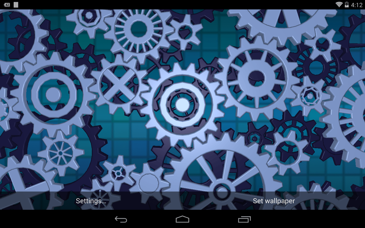 Animated Weather Wallpaper Iphone Gears 3d Live Wallpaper Android Apps On Google Play