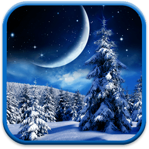 Falling Water Live Wallpaper Winter Night Wallpaper Android Apps On Google Play