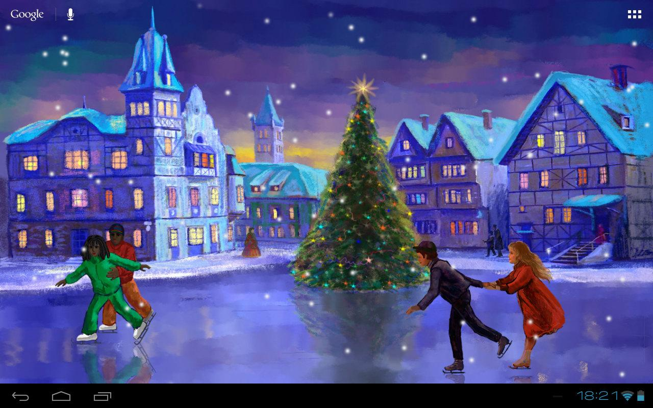 Falling Snow Live Wallpaper For Iphone Christmas Rink Live Wallpaper Android Apps On Google Play