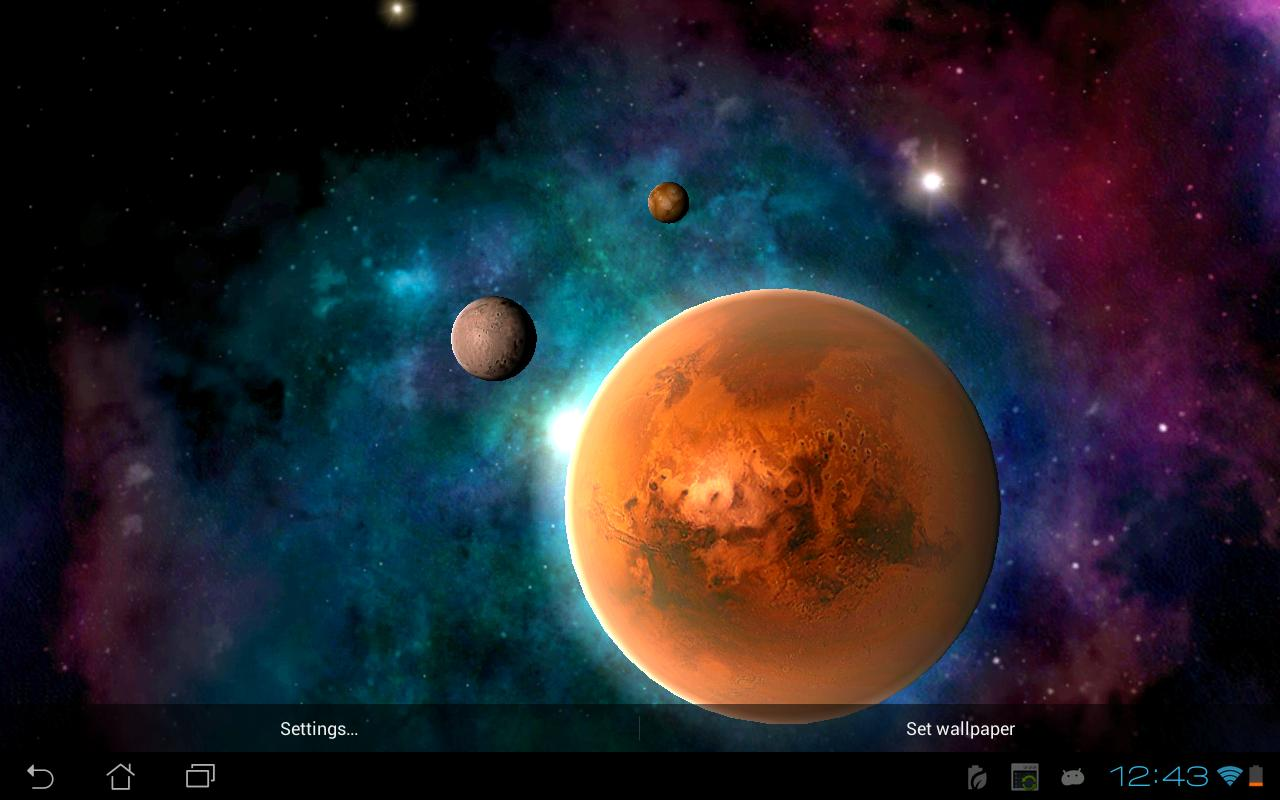 3d Solar System Live Wallpaper For Android Solar System Hd Free Edition Android Apps On Google Play