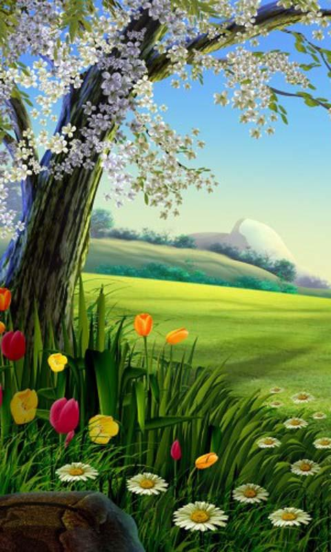 Live Wallpaper Spring Zen Hd 3d Cartoon Nature Live Wallpaper Android Apps On Google Play