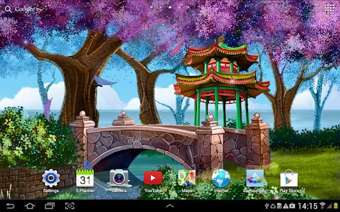 Sakura Falling Live Wallpaper Apk Download Android App Magic Garden Live Wallpaper Hd For