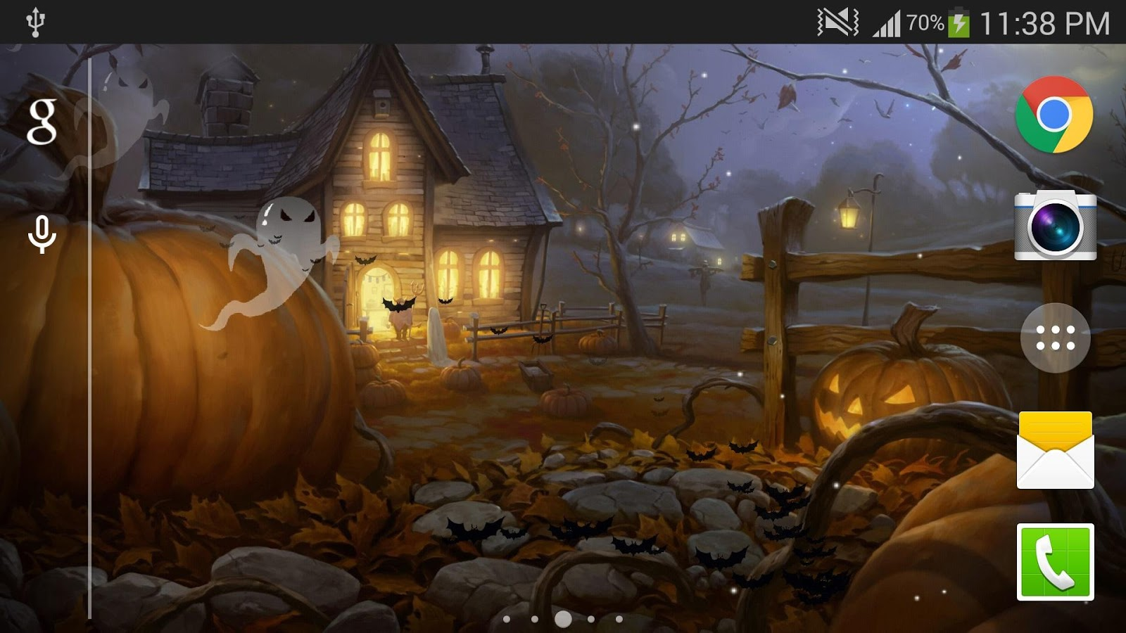 Fall Wallpaper For Android Halloween Live Wallpaper Hd Android Apps On Google Play