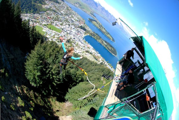 Bungy jumping from the Ledge, Queenstown